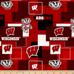 NCAA University of Wisconsin Blocks Allover Red/Black