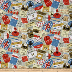 STOF France Mini Ticket Multicolor Fabric