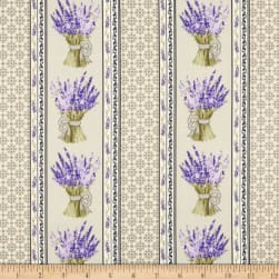 Stof Provence Lavande Naturel Fabric