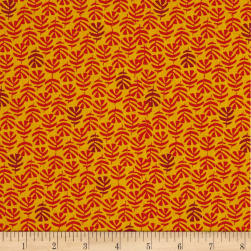 Stof Mini Kapaa Jaune Rouge Fabric