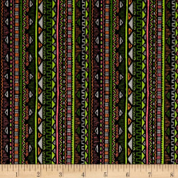 Stof Mini Maya Multicolore Noir Fabric