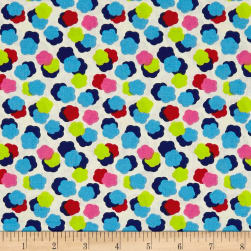 STOF France Cretonne Lilla Blue Rose Fabric