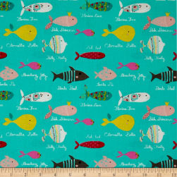 STOF France Enfant Barracuda Turquoise Fabric