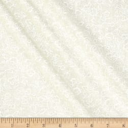 Classic Tone on Tone Floral White/Tan Fabric