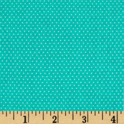 Pin Dots Turquoise Fabric