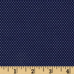 Pin Dots Navy Fabric