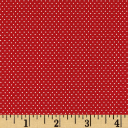 Pin Dots Red Fabric
