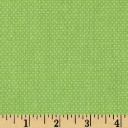 Pin Dots Baby Lime Fabric