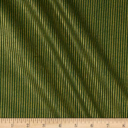 Christmas Jewels Stripes Metallic Gold/Green Fabric