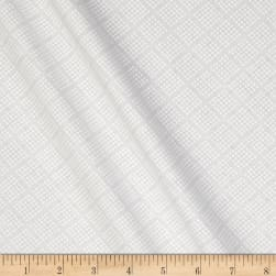 Tone on Tone Dotted Squares White/White Fabric
