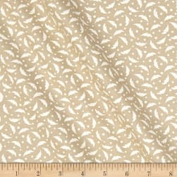 Tone on Tone Abstract White/Teastain Fabric