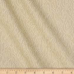 Tone on Tone Dotted Lines White/Teastain Fabric