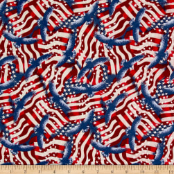 Made In The USA II Flags Red/White/Blue Fabric