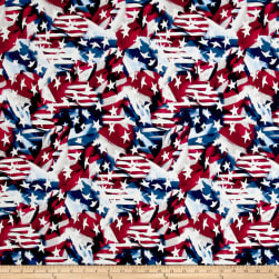 Made In The USA II Abstract Flag Red/White/Blue