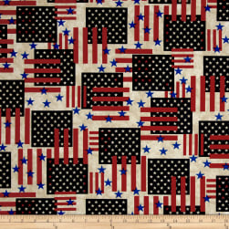 Made In The USA II Flags Antique Fabric