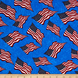 Made In The USA II Flag Red/White/Blue Fabric