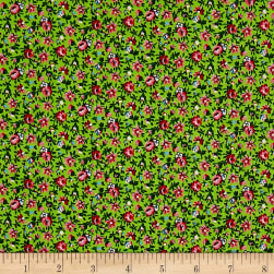New Country Calicos Lime/Pink Fabric
