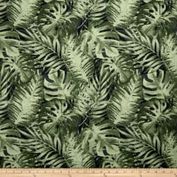 Stof France Palmos Basketweave Green Fabric