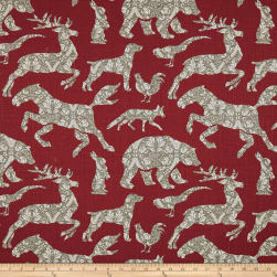 Stof France Bestiaire Rouge Fabric