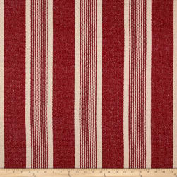 STOF France Arbois Basketweave Rouge Fabric