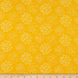 Art Gallery Lacey Star Cosmos Jersey Knit Marigold
