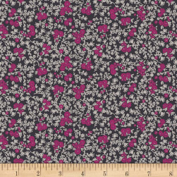 Art Gallery Decadence Castle Meadow Baie Stretch Jersey Knit Orchid Fabric