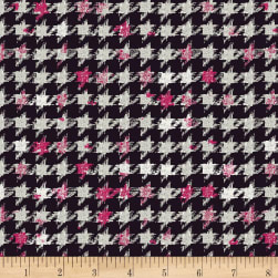 7e6fd4a4dd4 Art Gallery Decadence Houndstooth XIV Amour Jersey Knit Black Fabric