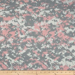 Urban Camouflage Grey/Pink/White Fabric