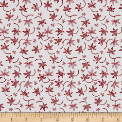 The Red and Black Basics Floral Red Fabric