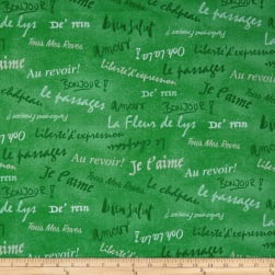 French Dressing Bright Green Fabric
