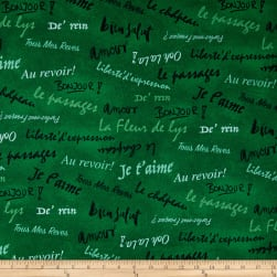 French Dressing Dark Green Fabric