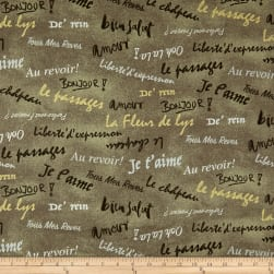French Dressing Oatmeal Fabric