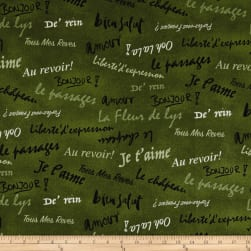 French Dressing Olive Fabric