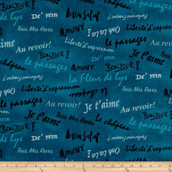 French Dressing Turquoise Fabric