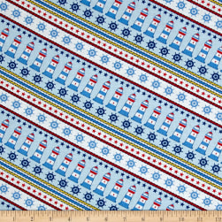 Clear Sailing Lighthouse Blue Multi Fabric