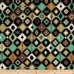 Navajo Earth Tones Green/Multi Fabric