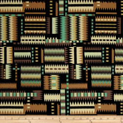 Navajo Earth Tones Purple/Multi Fabric