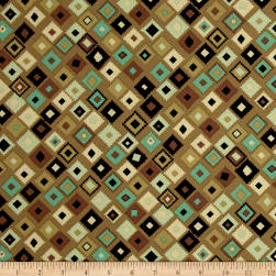 Navajo Earth Tones Brown Fabric