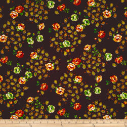 Botanical Garden Floral Brown Fabric