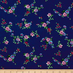 Botanical Garden Floral Navy Fabric