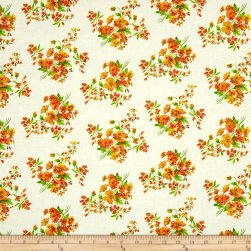 Botanical Garden Orange Fabric