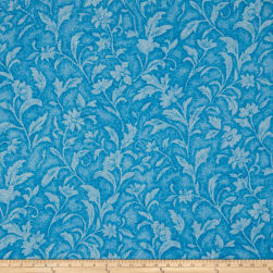 Santee Print Works Vintage Tapestry Floral Turquoise Fabric