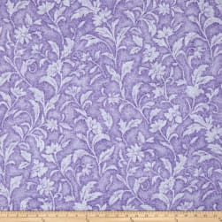 Santee Print Works Vintage Tapestry Floral Purple Fabric