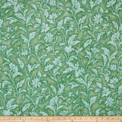 Santee Print Works Vintage Tapestry Floral Kelly Fabric