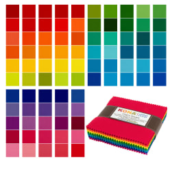 Kaufman Kona Cotton Charm Pack 85 Pcs Bright
