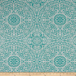 Richloom Tienchi Exclusive Medallions Basketweave Turquoise Fabric
