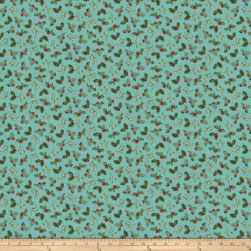 Spruce Mountain Mistletoe Turquoise Fabric