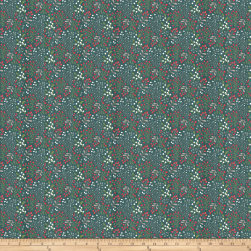 Swedish XMAS Teal Fabric