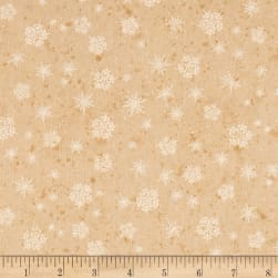 Sugar & Spice Snowflakes Beige Fabric