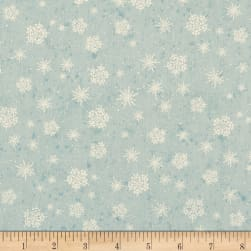 Sugar & Spice Snowflakes Blue Fabric